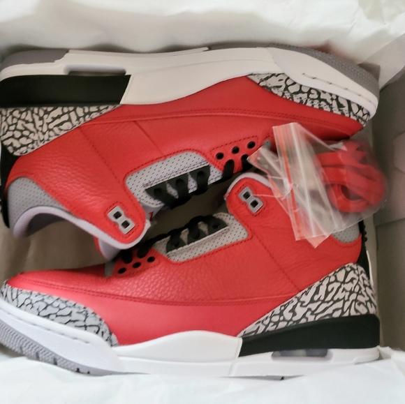 Air Jordan 3 Se Fire Red Cement Size